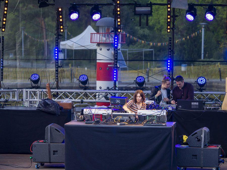 Jessica Kert, Live performance at Seaside Stage, Superbooth18, Foto: Angela Kröll