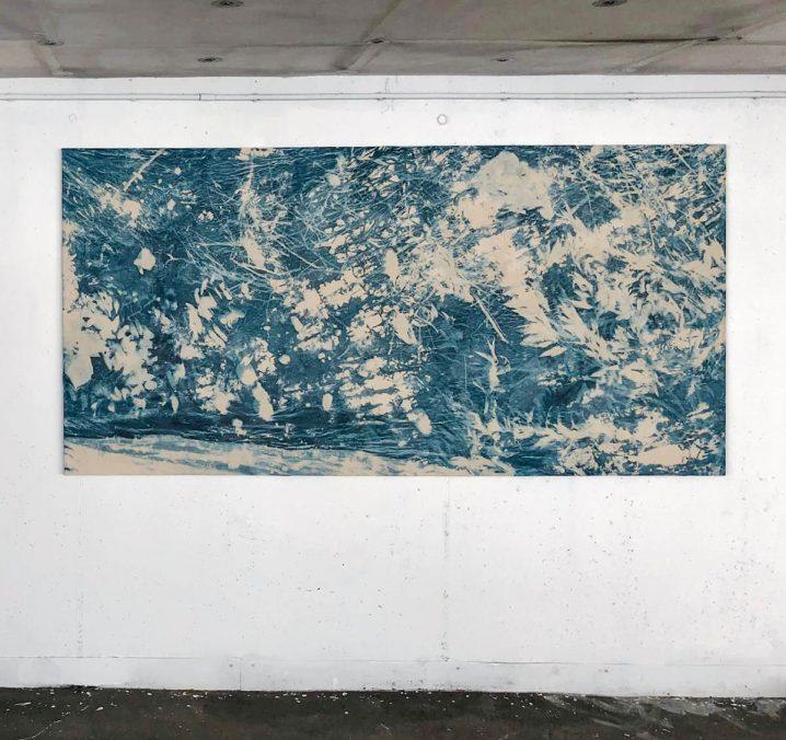 Überbleibsel, Überflutung 120 x 240 cm, 2021
