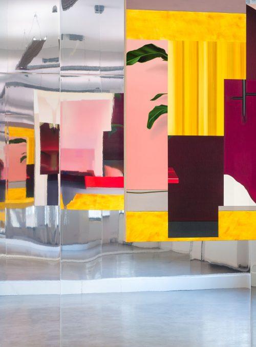 Thorben Eggers, Interior_2, oil on canvas, 154 x 210 cm, 2020. Solo Exhibition, Coelner Zimmer, Düsseldorf, 2021. Photo: Thorben Eggers
