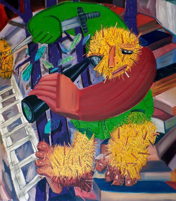 Tincuta Marin - Bigfoot's Castle, 200x176cm, oil on canvas, 2020 - Jecza Gallery