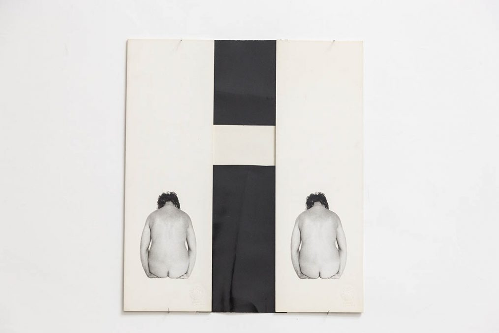 Tomaso Binga, OH OH, 1977, photocollage on paper, cm 36,3 x 31,5