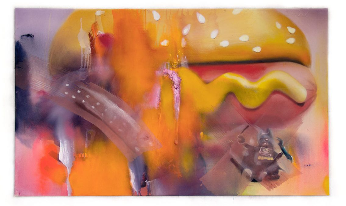 Hungry Badman 2018 Acryl auf Leinwand 140 x 85 cm
