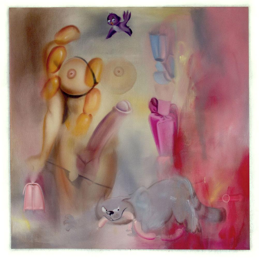 Tranny Cat 2018 Acryl auf Leinwand 160 x 160 cm