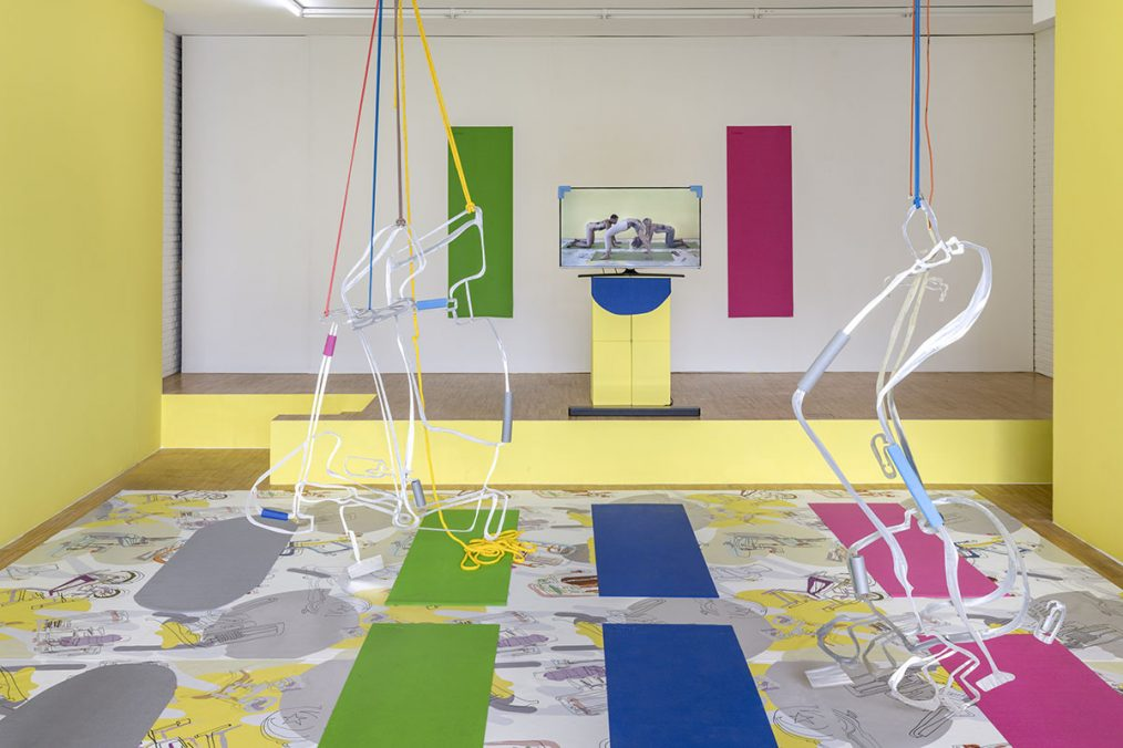 Fitness. Kraft und Schönheit, Installationsansicht Kunstverein Jesteburg, 2020. Foto: Helge Mundt